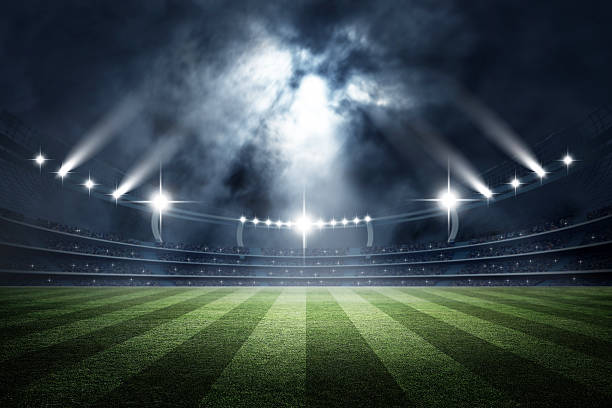 stadium, 3d rendering - soccer stock photos and pictures
