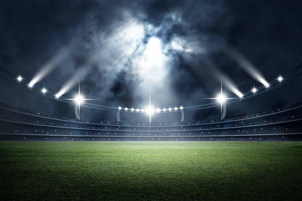 stadium, 3d rendering - soccer stock-fotos und bilder