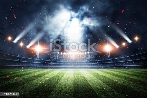 istock Stadium, 3d rendering 626459690