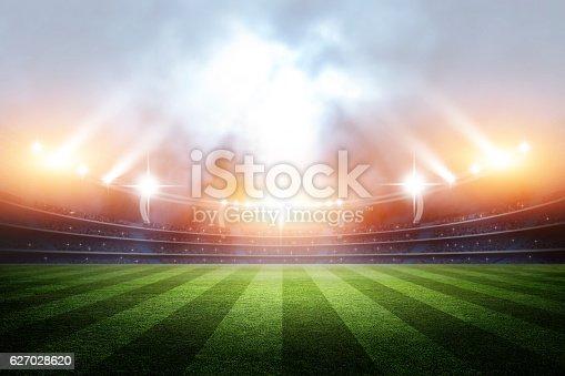 istock Stadium, 3d rendering 627028620