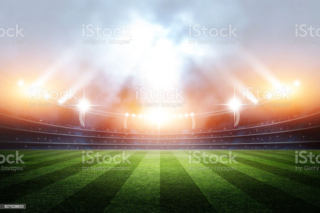 Stadium, 3d rendering stock photo