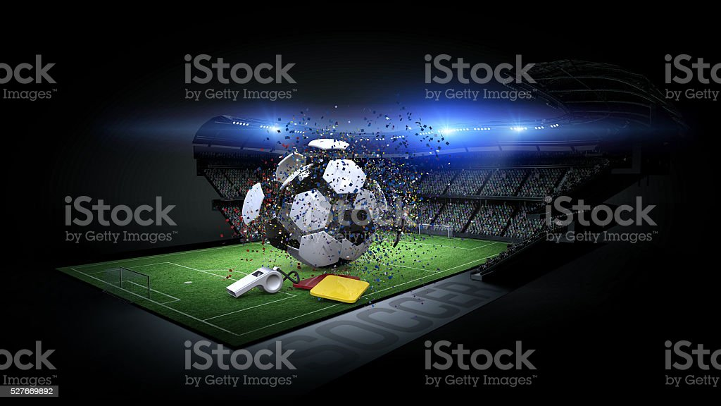 Stadium, abstract concept stock photo