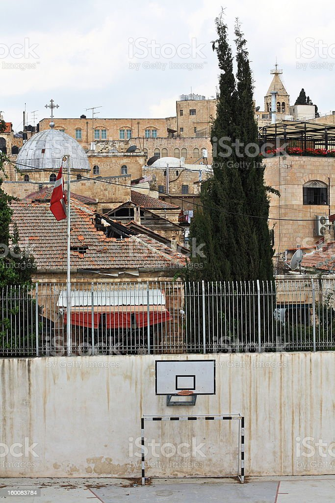 Stadium all religions .Jerusalem .Old City royalty-free stock photo