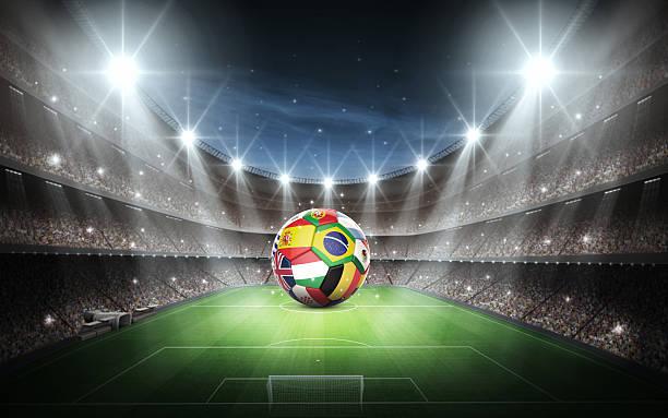 stadium and national flags - football portugal flag bildbanksfoton och bilder