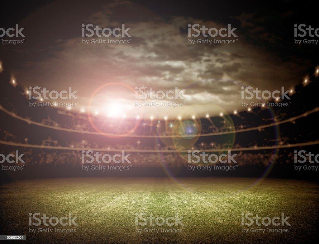 Estádio e céu - foto de acervo