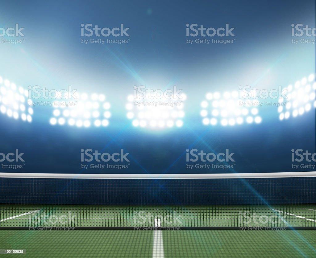 Stadium And Tennis Court stock photo