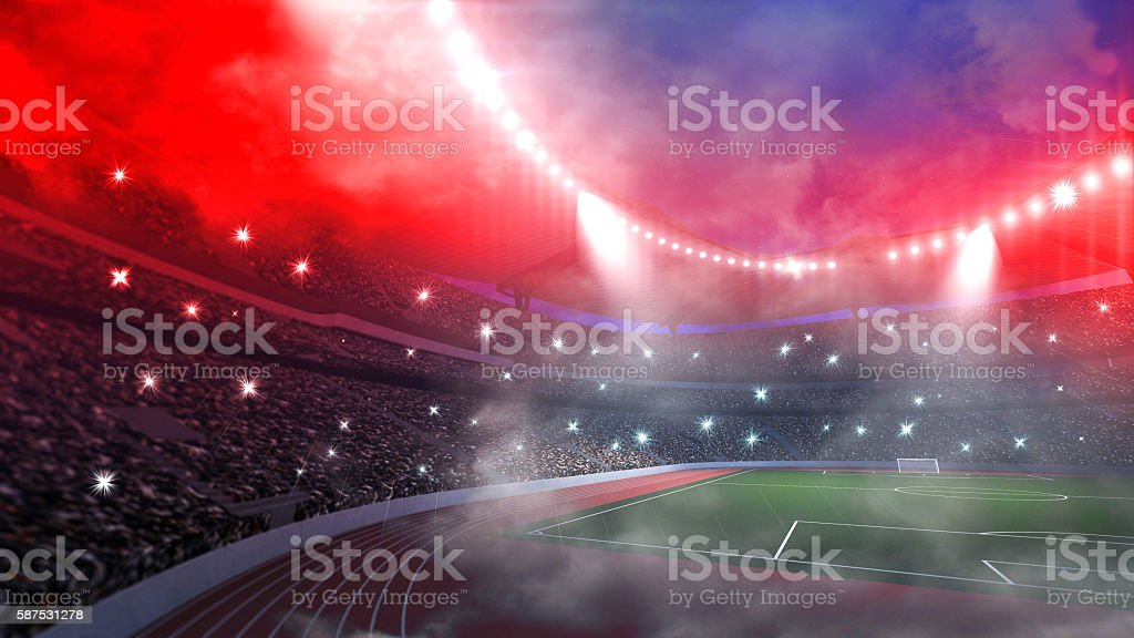 stadium arena hot night 3d stock photo
