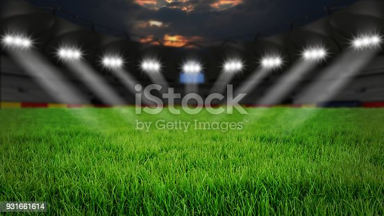 931661614 istock photo Stadium at night 931661614