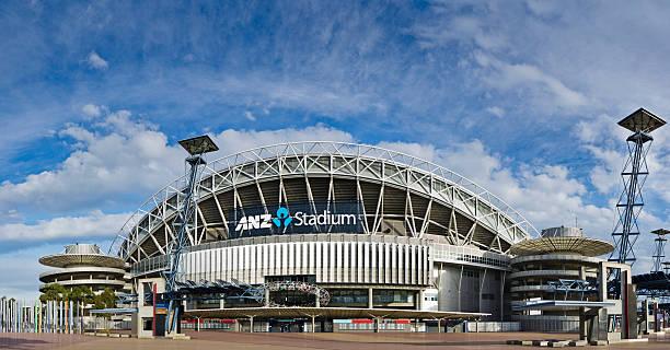 ANZ Stadium at Sydney Olympic Park stock photo
