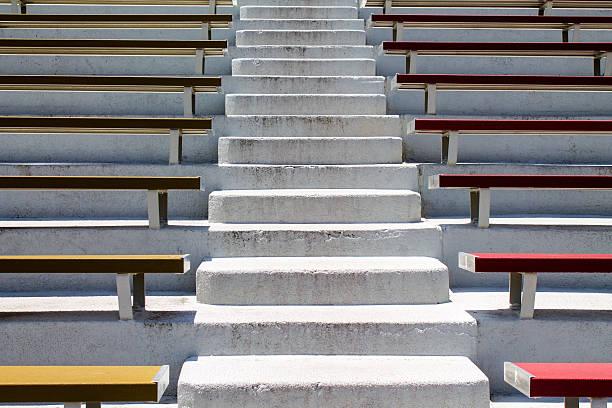 Stadium Bleachers and Steps Close Up stock photo