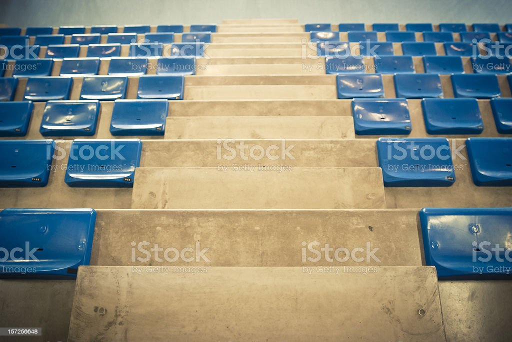 Stadium Bleachers Close Up stock photo