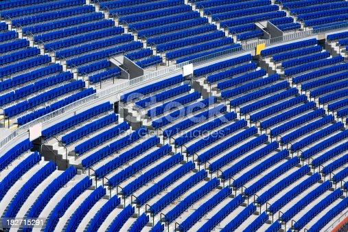 171581046istockphoto Stadium, blue bleachers 182715291