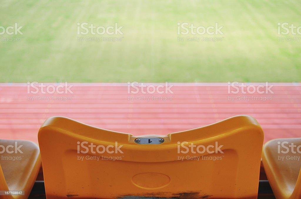 stadium chair royalty-free stock photo