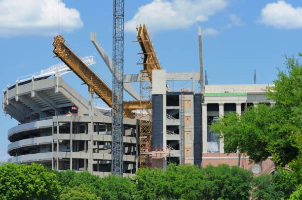 Stadium Construction at Alabama stock photo