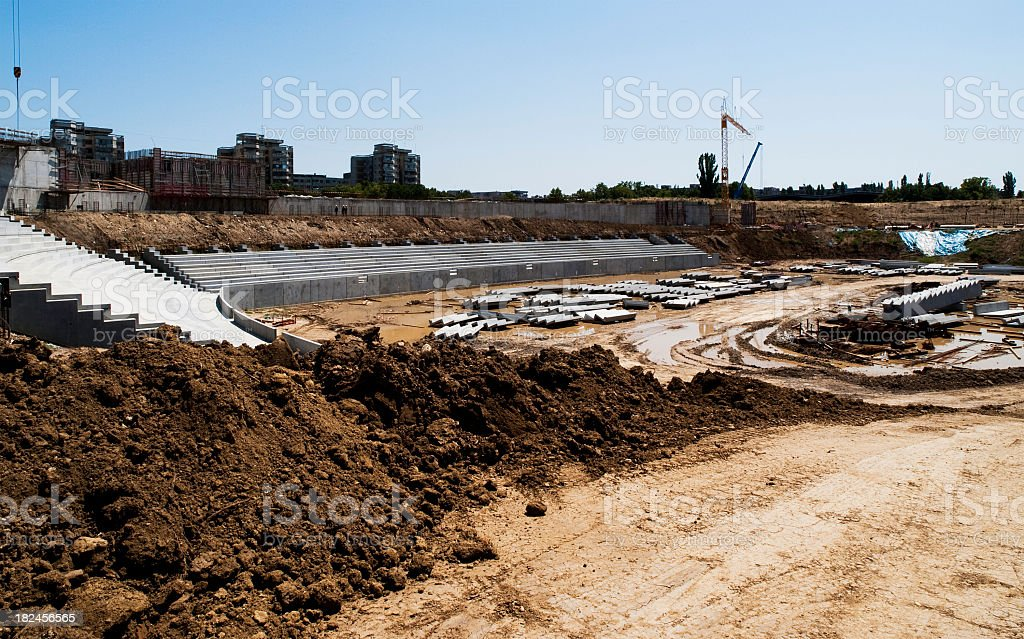 Stadium construction site royalty-free stock photo