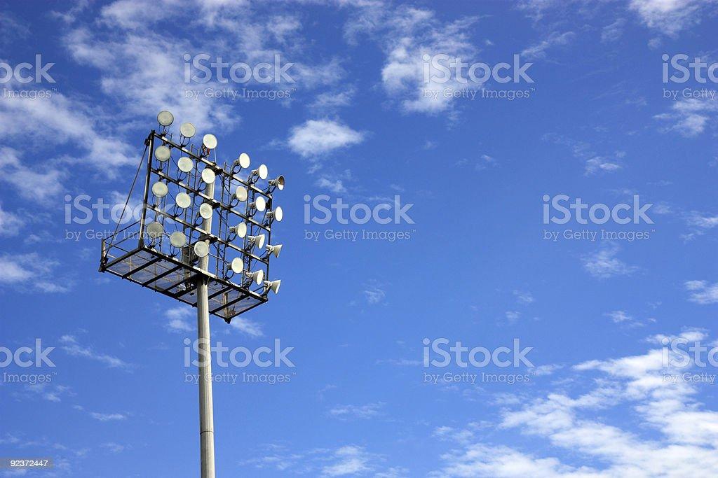 Stadium Floodlight & Blue Sky royalty-free stock photo