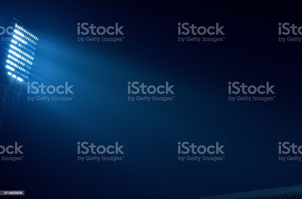Stadium floodlight stock photo