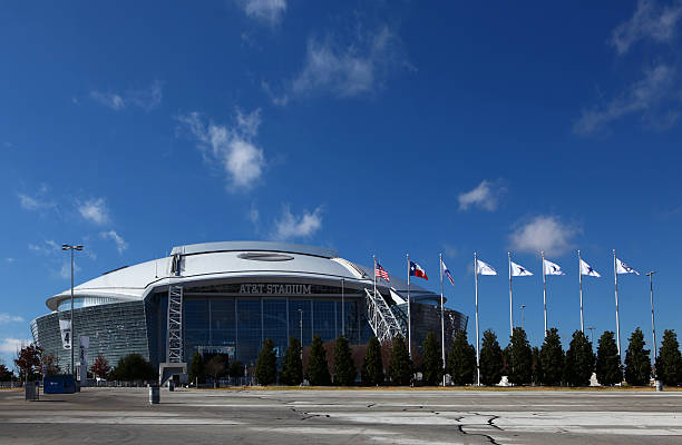 AT&T Stadium, home to the NFL's Dallas Cowboys stock photo