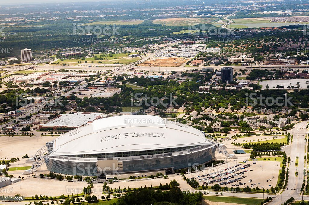 AT&T Stadium in Arlington, Texas stock photo