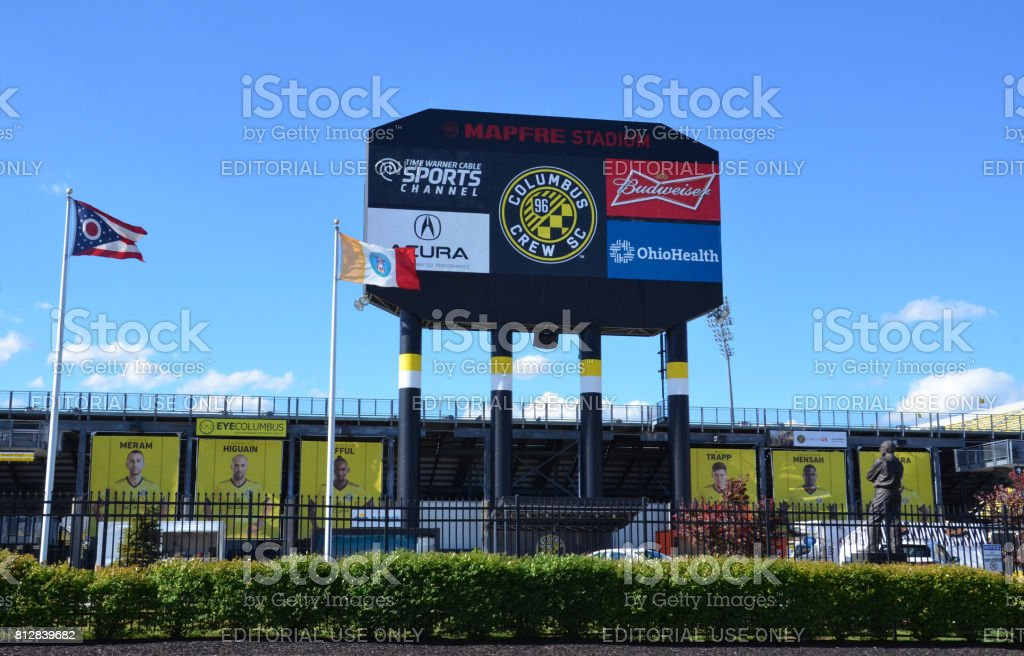MAPFRE stadium in Columbus stock photo
