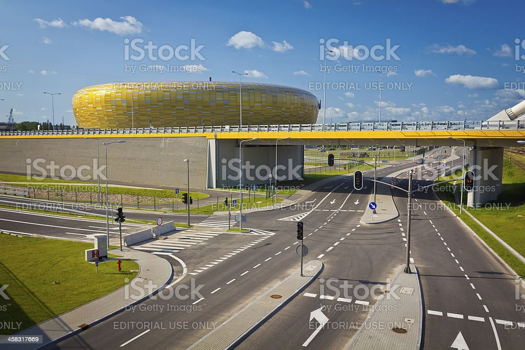 Stadium in Gdansk for UEFA EURO 2012 royalty-free stock photo