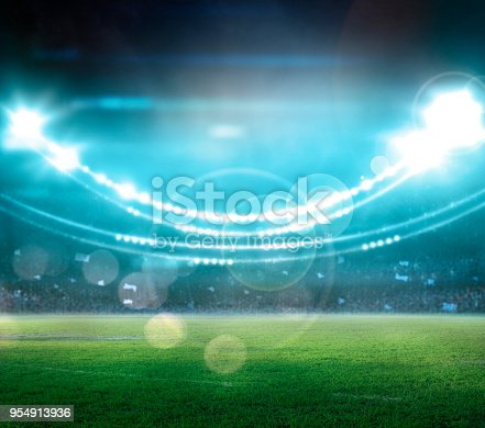 istock stadium in lights and flashes 3d. 954913936