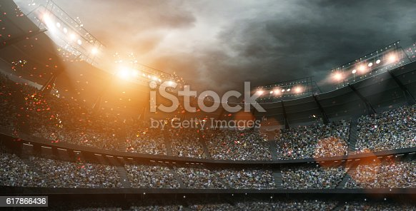 istock stadium light 3d rendering 617866436
