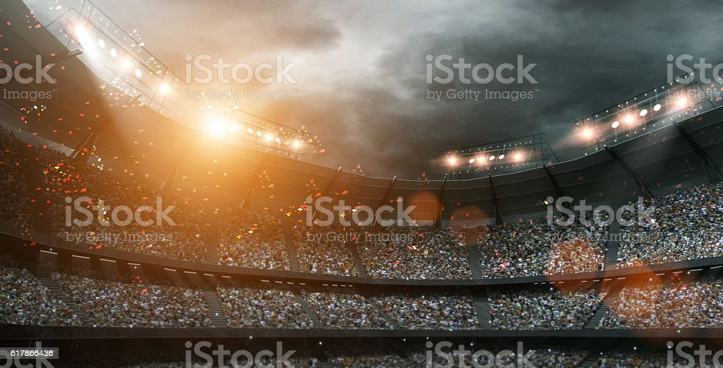stadium light 3d rendering - foto de acervo