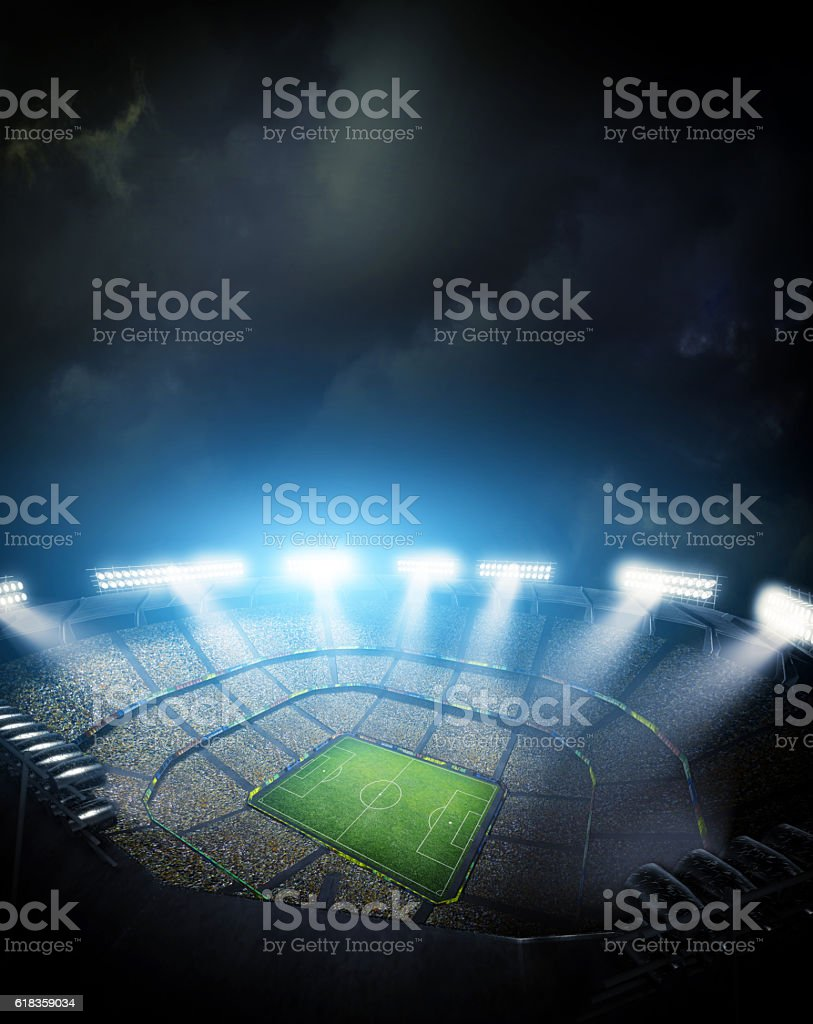 stadium light, 3d rendering stock photo