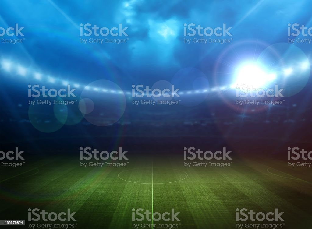 Stadium light stock photo