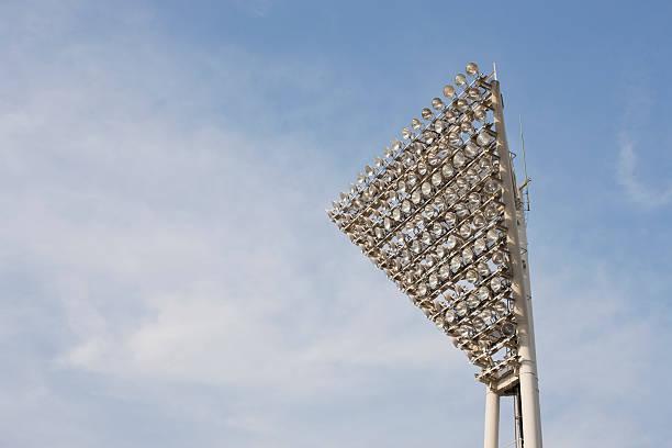 Stadium lighting (horizontal) stock photo