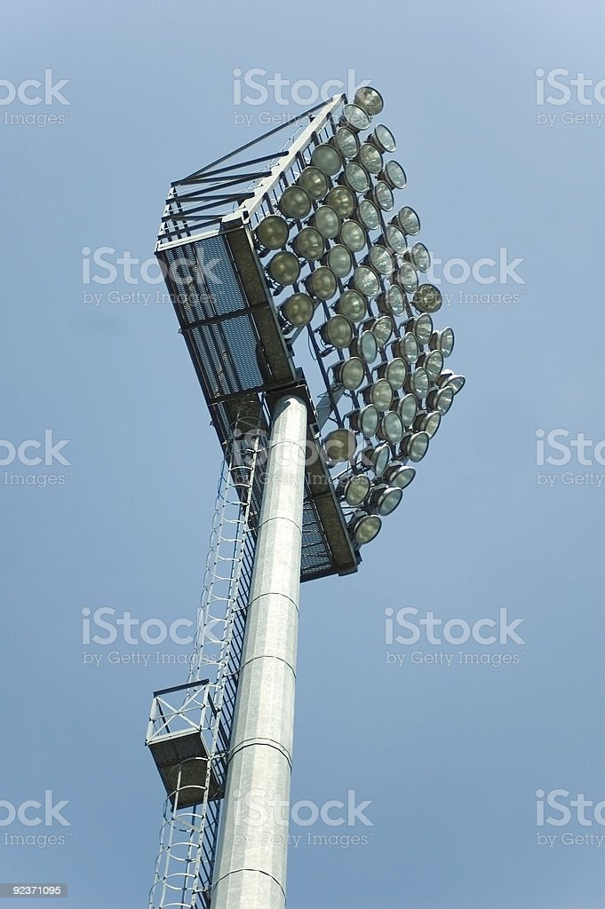 Stadium lighting royalty-free stock photo
