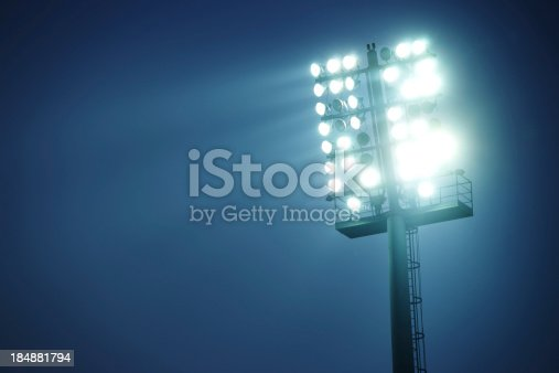 Stadium lights against dark blue sky  - front viewMy other similar images in