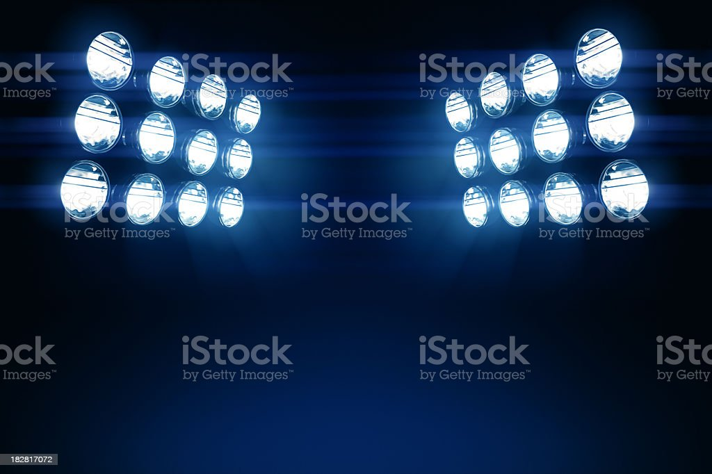 Stadium Lights Copy Space royalty-free stock photo