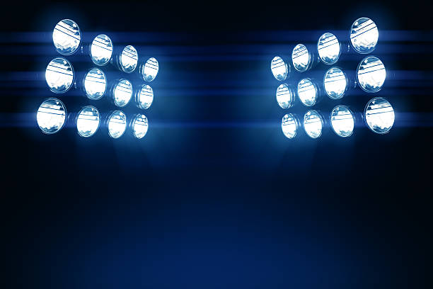 Stadium Lights Copy Space stock photo