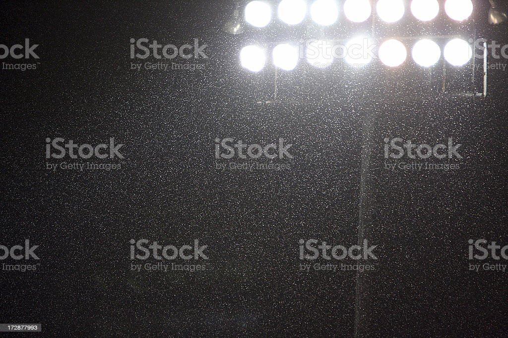 Stadium Lights in Rain royalty-free stock photo
