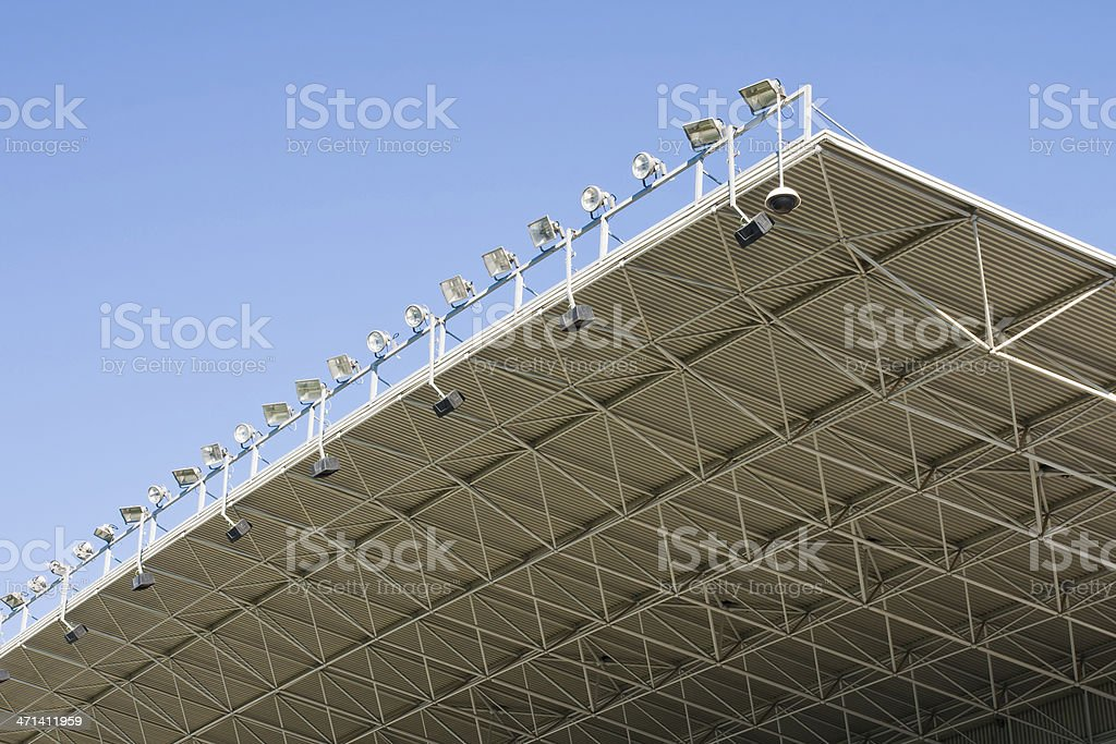 stadium lights royalty-free stock photo