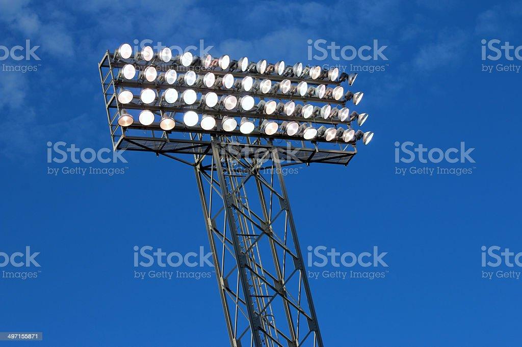Estadio luces - foto de stock