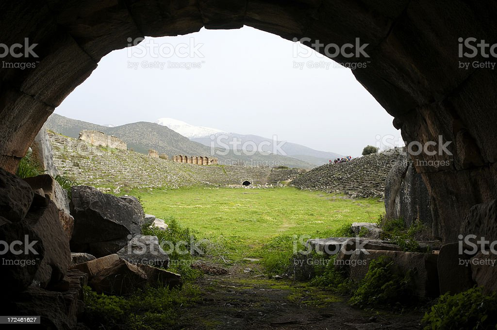 Stadium of Aphrodisias royalty-free stock photo