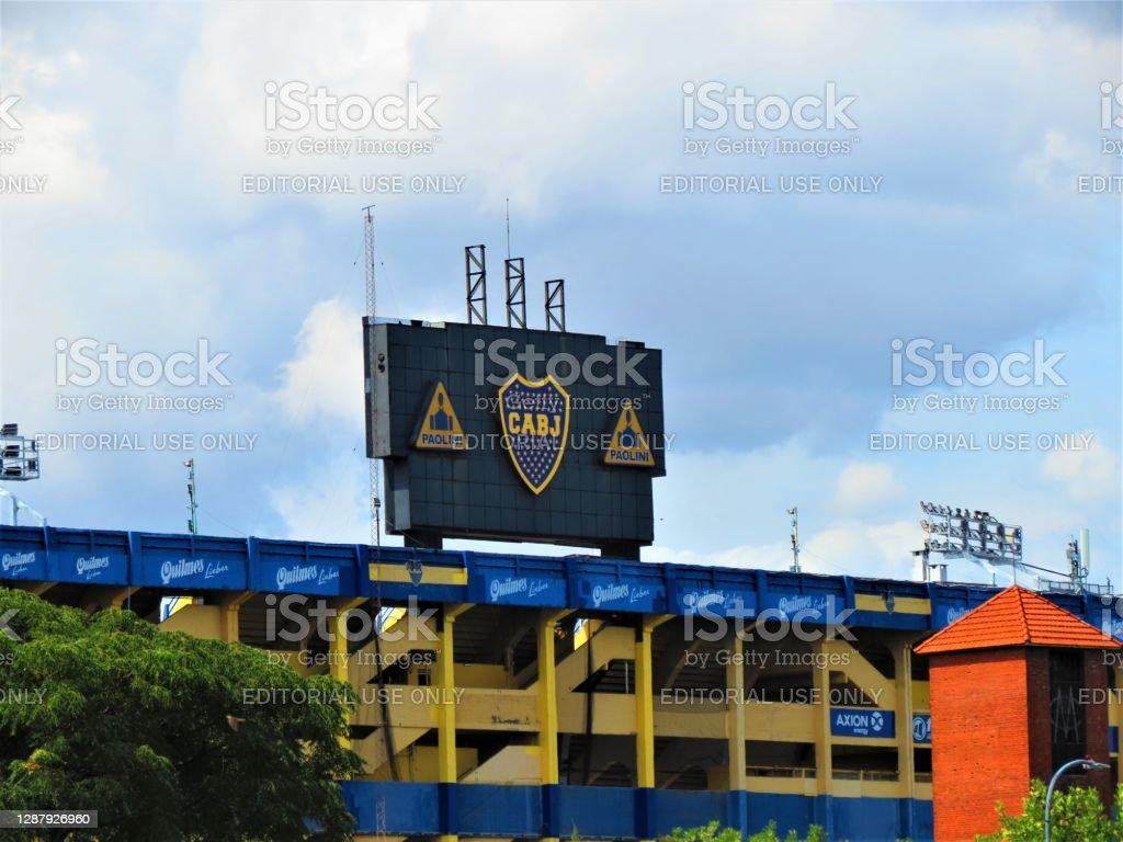 Стадион Бока Хуниорс (La Bombonera) в Буэнос-Айресе. - Стоковые фото American Football League роялти-фри