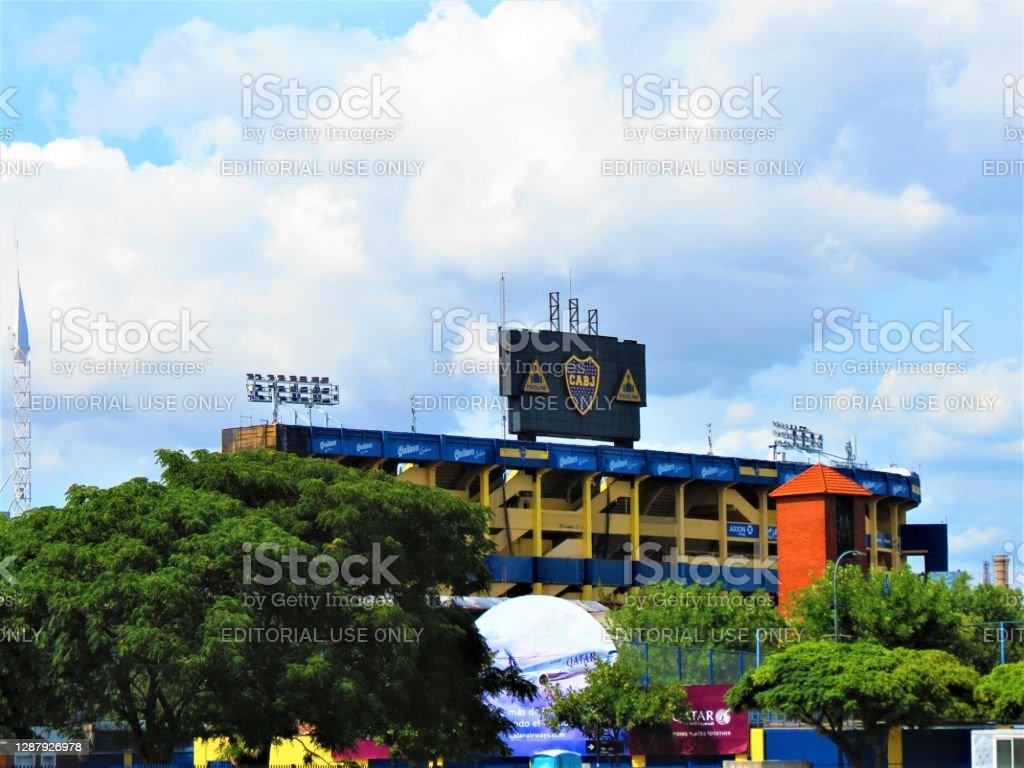 Estádio do Boca Juniors (La Bombonera) em Buenos Aires. - Foto de stock de Amarelo royalty-free