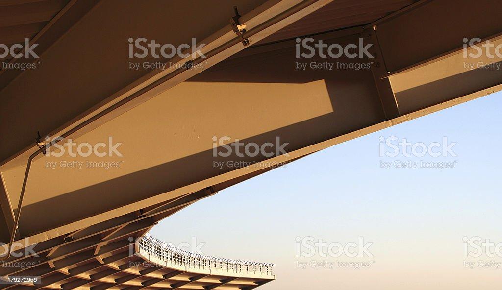 Stadium Overhang royalty-free stock photo