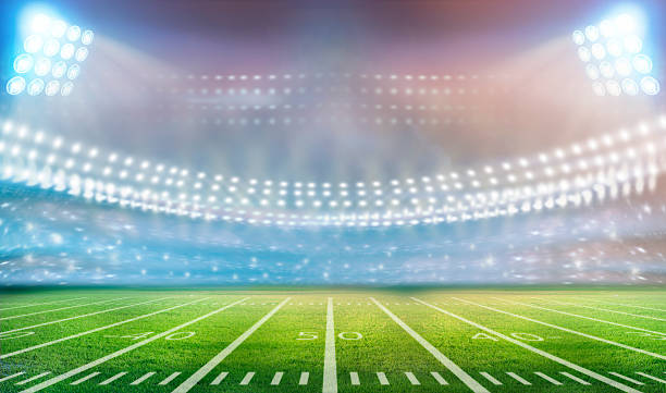 stadium Image of stadium in lights and flashes soccer field stock pictures, royalty-free photos & images