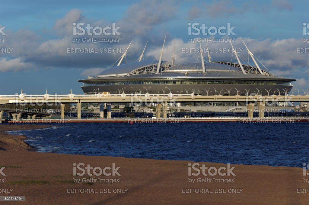 Stadium Piter Arena in St. Petersburg, Russia stock photo