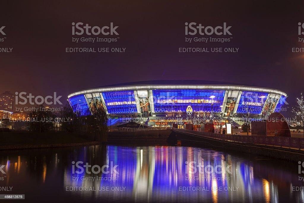 "Stadium ""Donbass-arena"" at night royalty-free stock photo"