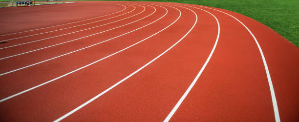 faixa plástica estádio vermelho - atletismo - fotografias e filmes do acervo