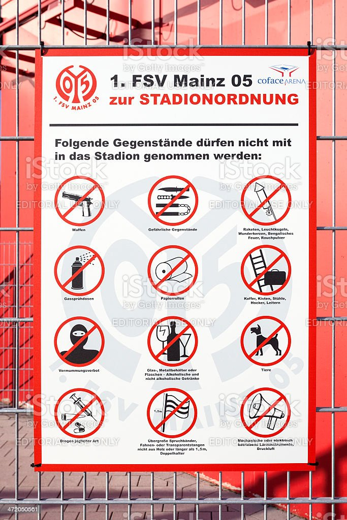 Stadionordnung Coface Arena Stock Photo & More Pictures of 1. FSV ...