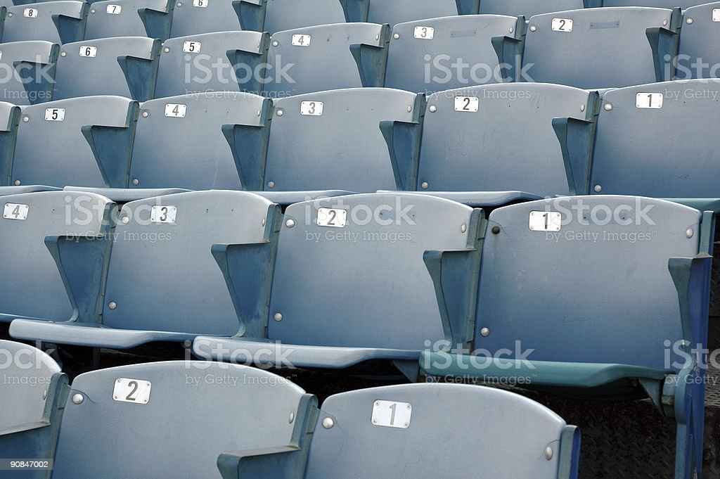 Stadium Seating - Bleacher royalty-free stock photo