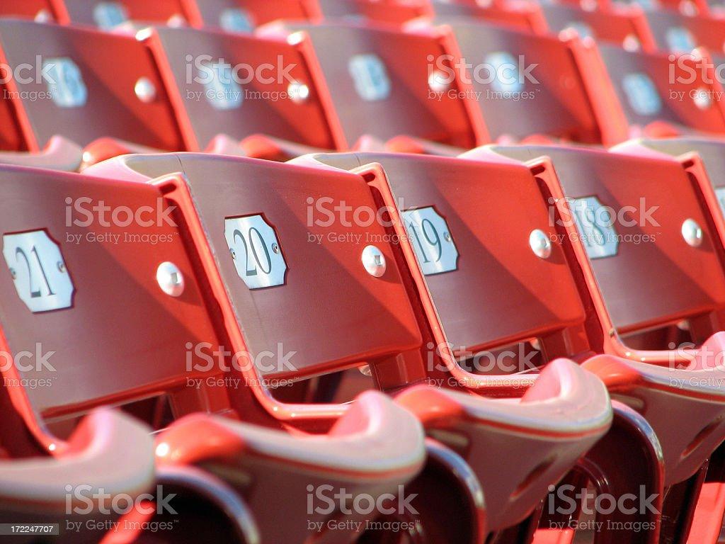 Stadium Seating royalty-free stock photo