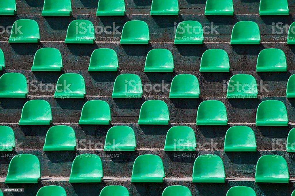 Stadium Seats as Background stock photo